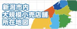 新潟市内大規模小売店舗所在地図
